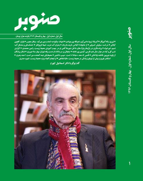 تصویر روی جلد یک مجلۀ صنوبر